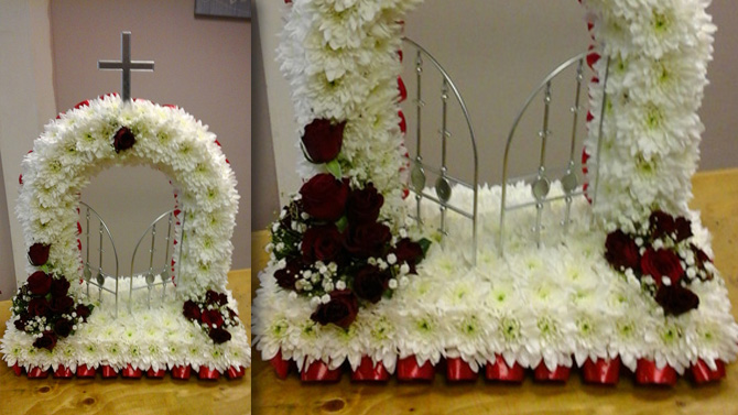 Gates of heaven funeral flowers north Bristol florist FGH3