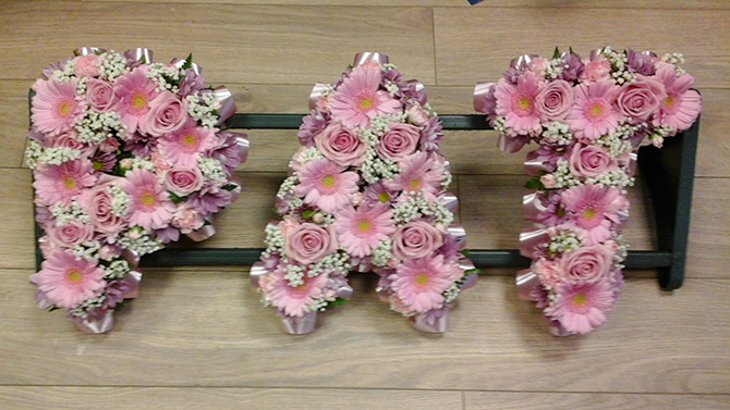 funeral flowers letters for friend or colleague florist Bristol FNL6