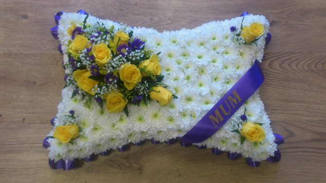 Mum funeral pillow north Bristol florist FPI3