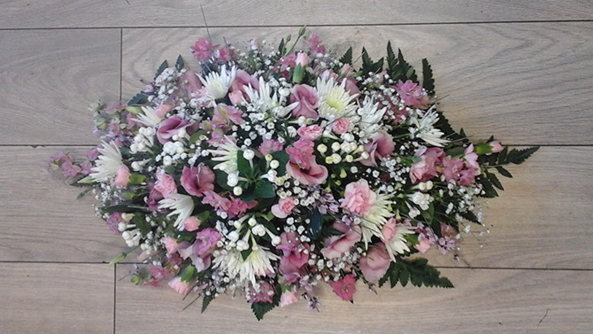 Funeral flowers double ended oasis spray florist Bristol FS5